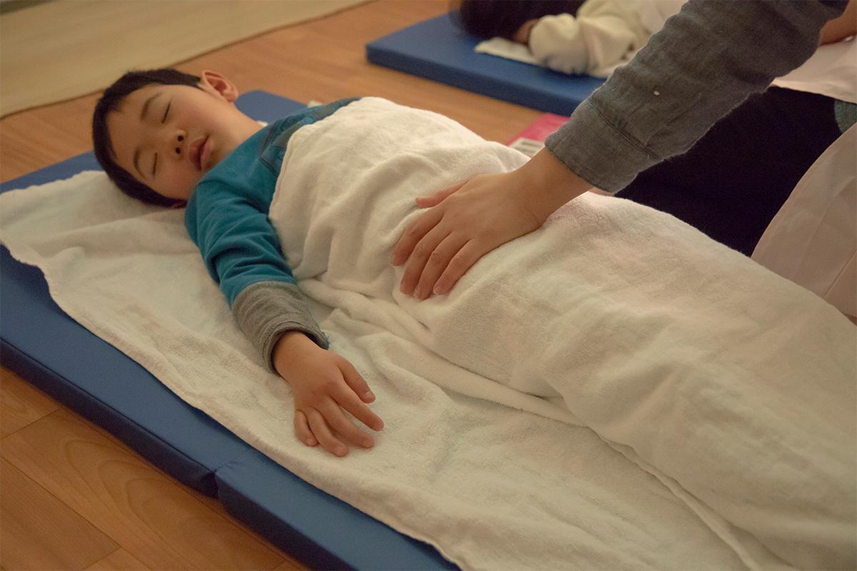 病児保育室でのお昼寝